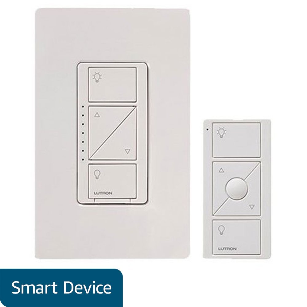 Lutron Caseta Wireless Smart Lighting Dimmer Switch and Remote Kit for Wall & Ceiling Lights, P-PKG1W-WH, White, Works with Alexa, Apple HomeKit, and the Google Assistant by Lutron (Image #1)