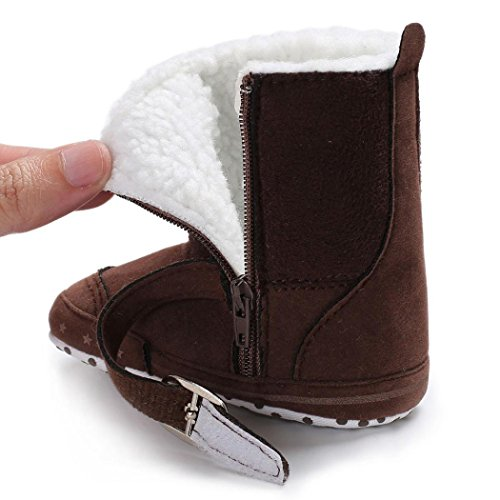 Clode® Baby Mädchen Jungen weiche Booties Schnee Aufladungs Säuglingskleinkind neugeborene Erwärmungs Schuhe Kaffee