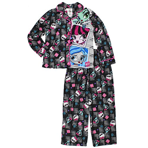 Monster High Two Piece Flannel Pajama Set Long Sleeve (XS - Pajama Piece 2 Flannel