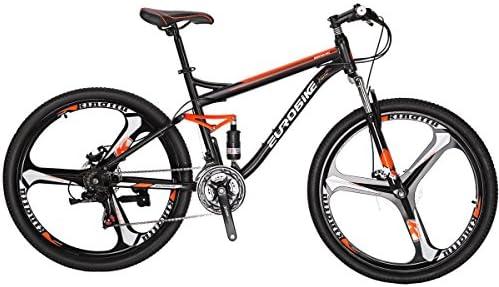 Eurobike Moutain Bike S7 Bicicleta 21 velocidades MTB 27.5 Pulgadas Ruedas Dual Suspensión Bicicleta: Amazon.es: Deportes y aire libre