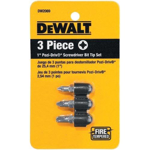 DEWALT DW2069 1 Inch Pozi Drive 3 Piece