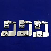 "YEQIN Snap On Adjustable Rolled Hemmer Foot Choose 1"",1/2"" or 3/4"" For Singer Brother Babylock Juki Janome"