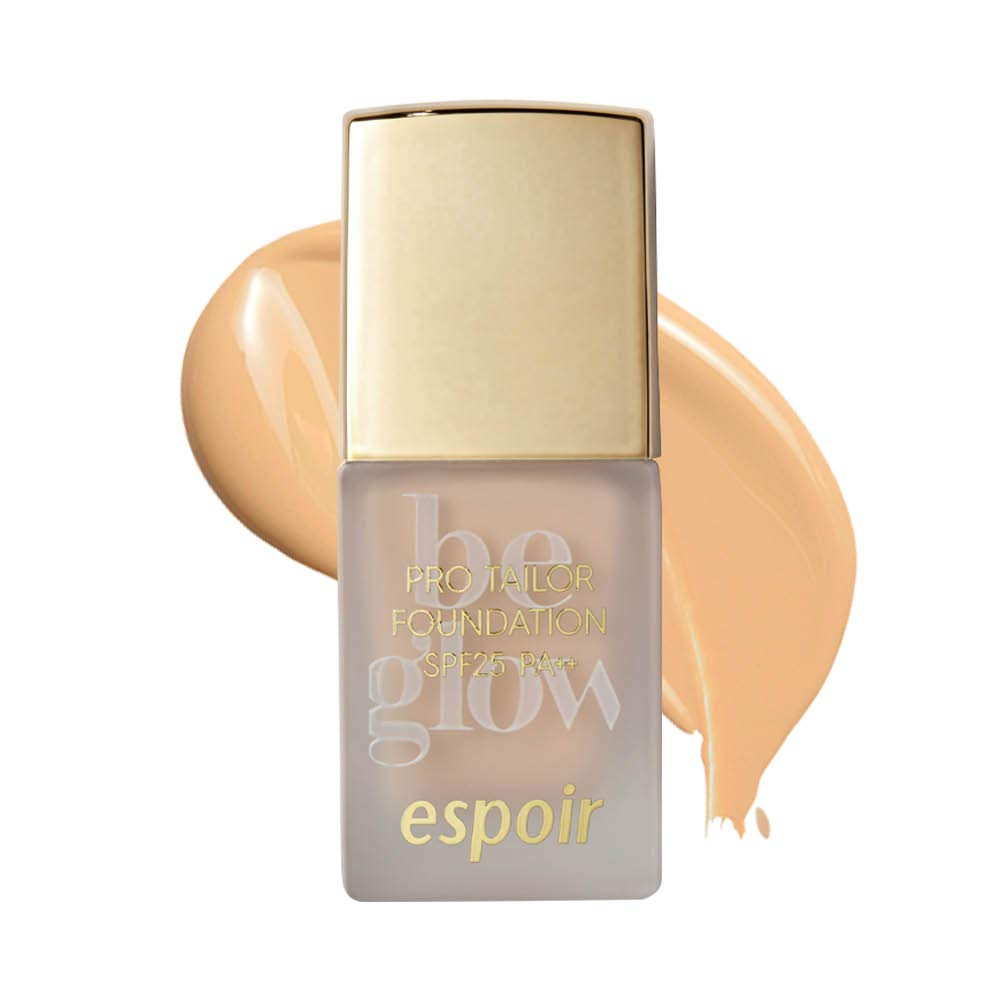 ESPOIR Pro Tailor Foundation Be Glow SPF25 PA++ 10ml #5 Tan | Natural Cover for Blemishes and Long-Lasting Beautiful Radiance that Makes Skin Look Good
