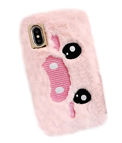 online retailer 5b7c1 20c73 UnnFiko Cute Piglet Fluffy Fur Case Compatible with iPhone 7 / iPhone 8,  Fuzzy Furry Winter Rabbit Fur Warm Plush Soft TPU Case Covers (Shy Pig  Pink, ...
