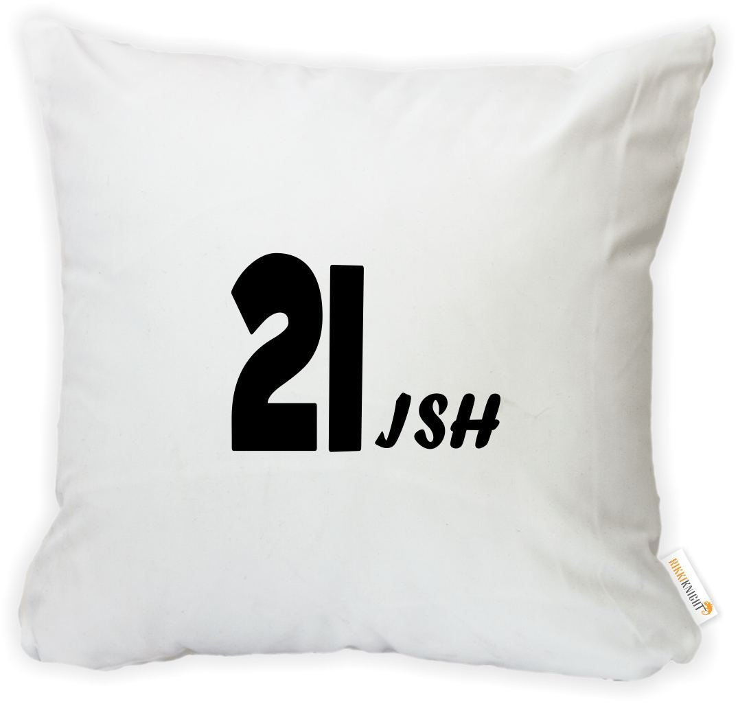 Rikki Knight 16 x 16 inch 21ish Happy 21st Birthday Microfiber Throw Pillow Cushion Square with Hidden Zipper Insert Included -Printed in The USA