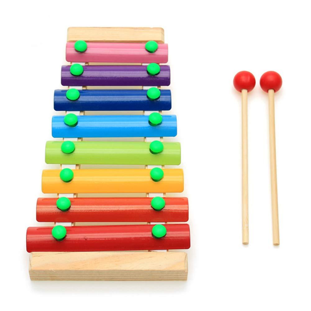 Liamostee El Instrumento Musical de Madera del xil/ófono 8 Tonos Juega beb/é de los ni/ños de los ni/ños