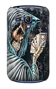 E0748 Grim Reaper Death Poker Funda Carcasa Case para Samsung Galaxy S3 mini