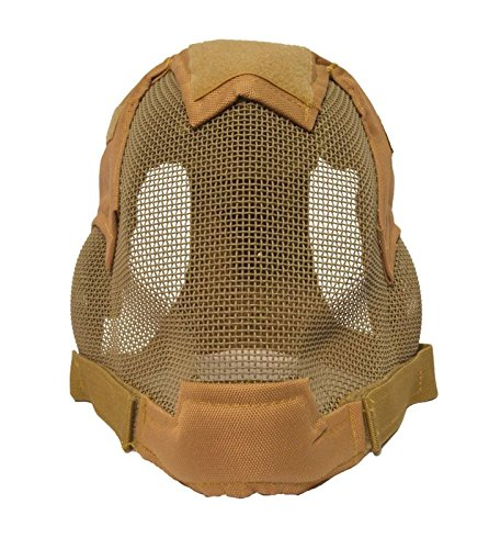 Airsoft-Full-Face-Ear-Protection-Fencing-Mask-Tan