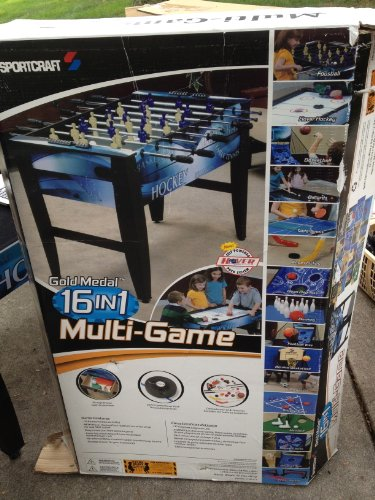 Amazon.com : Sportscraft 16 In 1 Multi Game Table : Rec Room Games And  Equipment : Sports U0026 Outdoors
