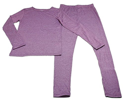 32 Degrees Heat Girls Long Sleeve Crew Neck and Legging Set Heather Fiction Fig Large