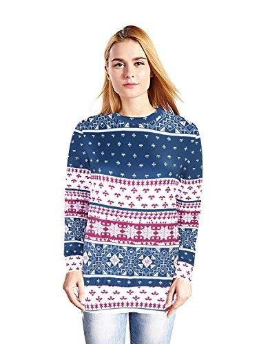 Creepypasta Costumes For Girls (frose Unisex Casual Loose Hoodies Hooded Sweater Geometric Elk Snowflakes Long Sleeve)