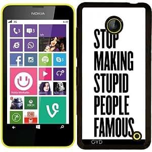 Funda para Nokia Lumia 630 - Gente Famosa Estúpidas by wamdesign