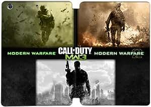 Cubierta de cuero y caja de la PC funda / soporte para funda de Apple iPad Mini 4 funda Con Magnetic reposo automático Función de despertador DIY por Call Of Duty Modern Warfare Wallpaper J6I3Sz5S6Lc