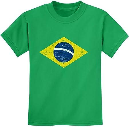 TeeStars World Soccer Hoodie Brazil Flag