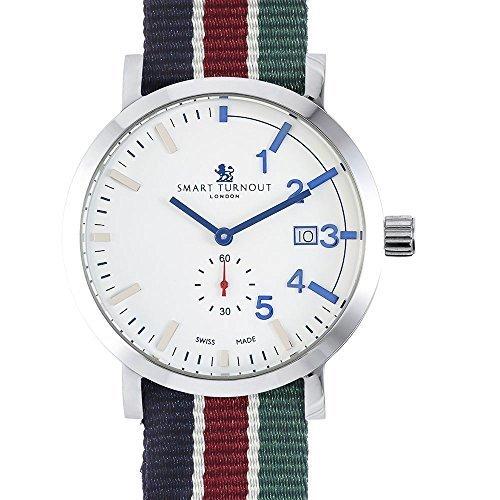 Relojes suizos para hombre reloj de pulsera con vestido de diseño de la cara blanca y ...