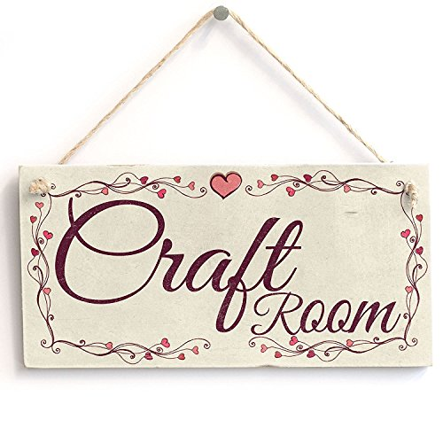 Meijiafei Craft Room - Heart Design Rustic PVC Sign/Plaque 10