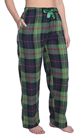02fce3e310f M - Womens 100% Cotton Flannel Plaid Lounge Pants Available in Plus Size  Y18 WFP