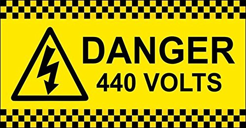 999Store Sign 79 Danger 440 Volt Electric Room and Factory Sign