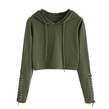 Mujer Blusa sudaderas tops otoño casual urbano streetwear,Sonnena Sudadera casual de manga larga con