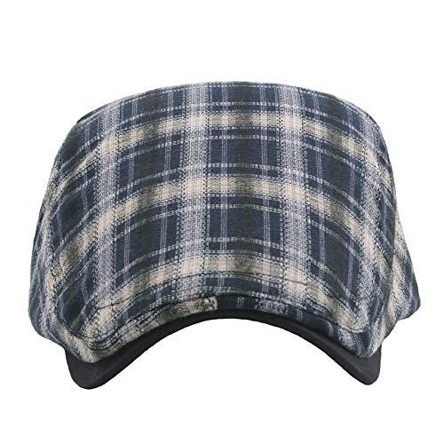 Striscia Plaid Cotone Tessuto Cappello Piatto Baschi Scozzesi Coppola Cappello Piatto Berretto da Unisex Aikesi