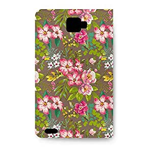 Leather Folio Phone Case For Samsung Galaxy Note 2 Leather Folio - Tropical Vintage Florals Protective Designer by lolosakes