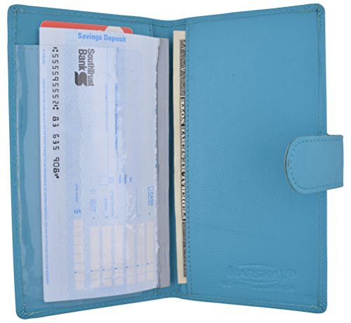 Brand New Hand Crafted Genuine Soft Leather Checkbook Cover simple-156 (Snap Baby -