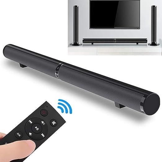 XGLL Barra de Sonido de TV, diseño Divisible con Bluetooth inalámbrico y con Cable 2.0 Canales de Cine en casa Altavoces Barras de Sonido Envolvente para TV/Optical/RCA/AUX/Remote Control: Amazon.es: Hogar