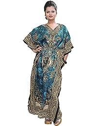 Essentials-Tribal-Ethnic-Print-Kaftan Womens Dress