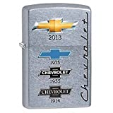 Chevy Street Chrome Zippo Outdoor Indoor Windproof Lighter Free Custom Personalized Engraved Message Permanent Lifetime Engraving on Backside