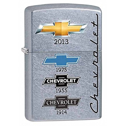 Chevy Style3 Zippo Outdoor Indoor Windproof Lighter Free Custom Personalized Engraved Message Engraving on Backside (Style8)
