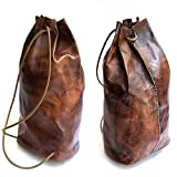 Brown Leather Handmade Backpack