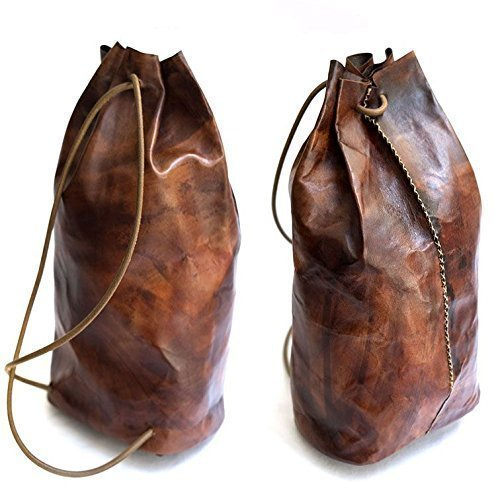 Brown Leather Handmade Backpack by AnyLeatherDesigns