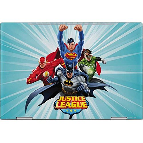 Skinit DC Comics Justice League Envy x360 15t (2018) Skin - Justice League Team Power Up Blue Design - Ultra Thin, Lightweight Vinyl Decal Protection by Skinit (Image #1)