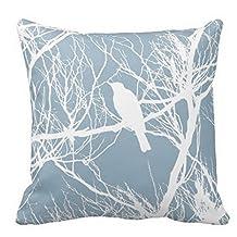"""Vanki Cotton Square Decorative Throw Pillow Case Cushion Cover Bird Silhouette Pillow 18 """"X18 """""""