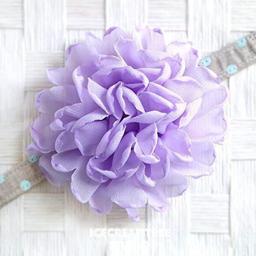 Giant Bloom Collar Slide On, Flower Collar Accessories, Corsage Accessories, Collar Add On - Lavender