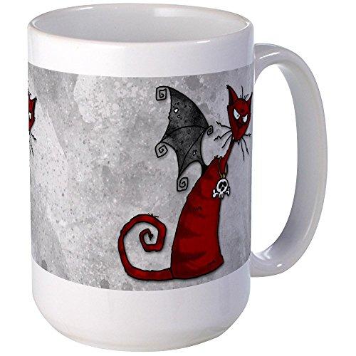CafePress - Doom Kitty Large Mug - Coffee Mug, Large 15 oz. White Coffee (Doom Kitty)