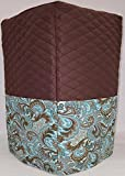 Brown & Teal Paisley Bread Machine Cover (Chocolate Brown)