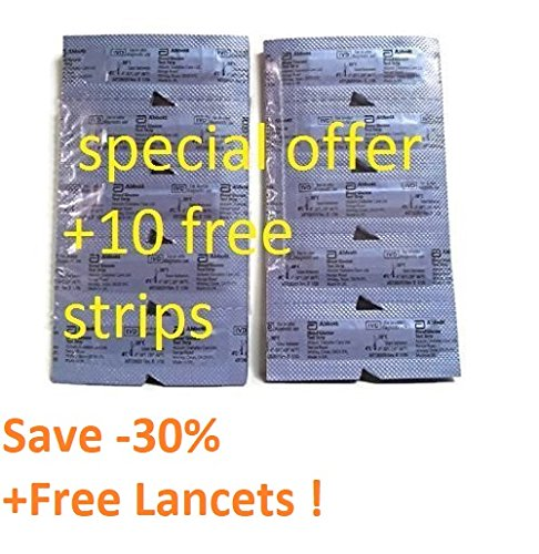 Precision Xtra Blood Glucose 100 Test Strip+10 strips for free+50 lancets- 3 DAYS DELIVERY
