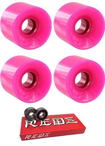最悪財団母音OJ Wheels 55 mm Mini Hot JuiceスケートボードWheels with Bones Bearings – 8 mmスケートボードベアリングBones Super Redsスケート定格 – 2アイテムのバンドル