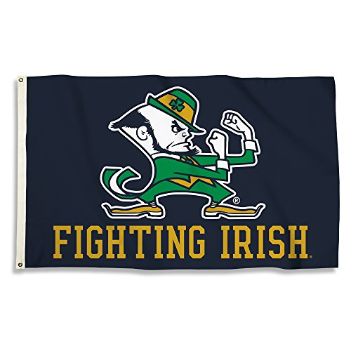 Notre Dame Flag (NCAA Notre Dame Fighting Irish 3-by-5 Foot Flag with Grommets,)