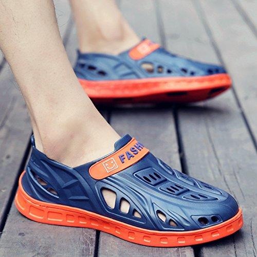 Xing Lin Sandalias De Hombre Sandalias Y Pantuflas Chanclas De Verano Macho MenS Baotou Agujero Zapatos Antideslizantes De Hombres Sandalias Sandalias De Hombres Hombres blue