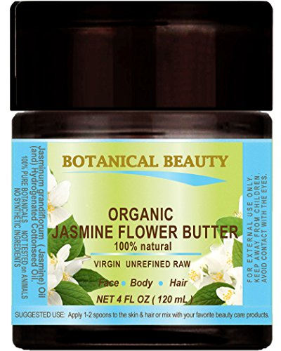 ORGANIC JASMINE OIL BUTTER RAW 100 % Natural / VIRGIN / UNREFINED 4 Fl.oz.- 120 ml. For Skin, Hair and Nail Care. (Oil Jasmine Dry)