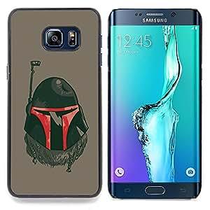 For Samsung Galaxy S6 Edge Plus - The Bounty Hunter Helmet /Modelo de la piel protectora de la cubierta del caso/ - Super Marley Shop -