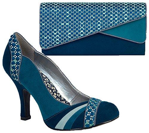 Matching Sydney amp; Ruby Heather Shoo Shoes Teal Bag Court gxrqRXYq