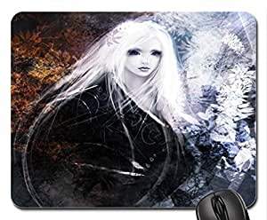 Beauty White Girl Mouse Pad, Mousepad (10.2 x 8.3 x 0.12 inches)