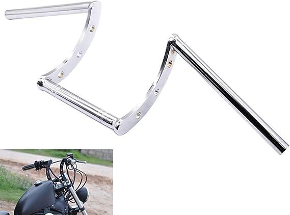 Anxin Motorradlenker Z Lenker 22mm 7 8 Lenker Für Harley Triumph Drag Custom Bobber Chopper Cruiser Softail Dyna Sportster Chrom Auto