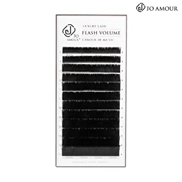de9a86de581 Amazon.com : JO AMOUR 0.07 One Second Mega Volume Eyelash Extension C/CC/D  Curl Length 8-15mm Easy To Make Fan For Professional Using (C / 14+15mm) :  Beauty
