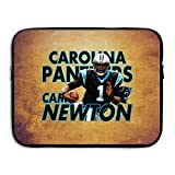 Custom Cam 1# Newton Football Player Waterproof Laptop Protective Cover Bag Size 15 Inch