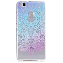 KSHOP Samsung Galaxy J5 (2015) (5.0 inches) TPU Soft Case Transparent TPU Silicone Cover Bumper ShellColorful Pattern Design Clear Crystal Protective Back Bumper Shell-Blue Sunflower