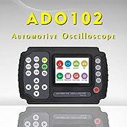Digital Oscilloscope Kit?ADO102 2CH Handheld Digital Automotive Oscilloscope?Professional LED Oscilloscope Multimeter With 200ksps A/D Automatic Waveform Capture Function,DC/AC Voltage/Current Test